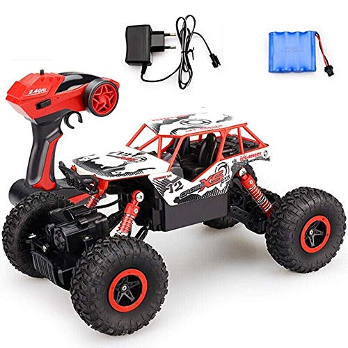 Control Remoto Cars Radio 2.4G 4CH Rock Buggy Off-Road Truck s Juguetes para niños, High Speed ​​Climbing Drift Driving Monster Truck RTR Bigfoot Off-Road Regalo de cumpleaños