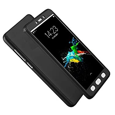 Full Case for Vivo X7   Front and Back Protection Black