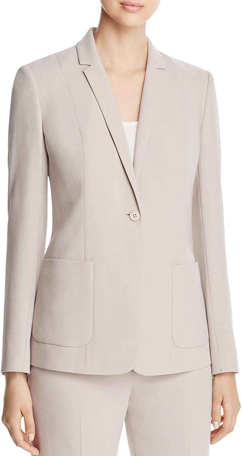 Elie Tahari Womens Wendy Long Sleeve Notched Collar OneButton Suit Jacket
