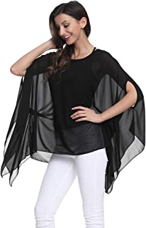 Best sheer poncho blouse Reviews