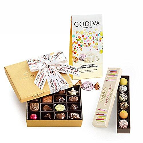Godiva Chocolatier Birthday Celebration Gift Set, Birthday Cake, Happy Birthday Gift, Birthday Chocolate, Gourmet Chocolate