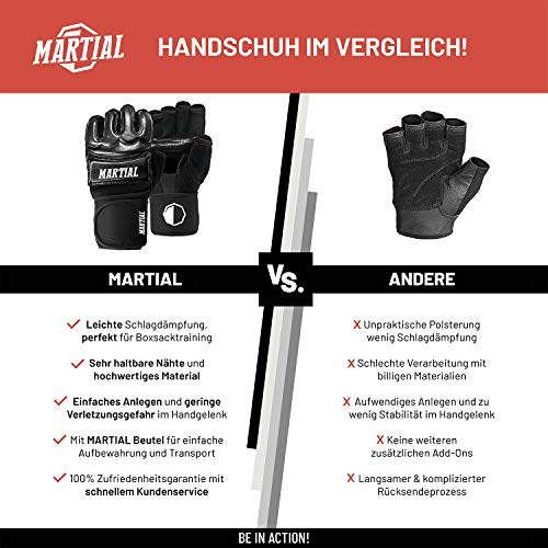 MMA Handschuhe Profi - professionelle Qualität - hochwertige Konstruktion - Boxen, Training, Sandsack, Boxsack, Freefight, Grapl Abbildung 3