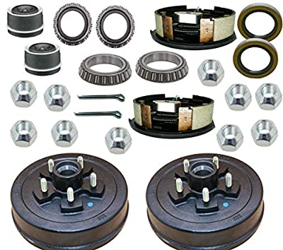 "M-parts 99-545KITB Trailer Drum Kits 5 on 4.5"" with 10"" x 2-1/4"" Electric Brakes for 3,500 lbs Axle Set 1 Right and 1 Left"