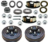 """M-parts 99-545KITB Trailer Drum Kits 5 on 4.5"""" with 10"""" x 2-1/4"""" Electric Brakes for 3,500 lbs Axle Set 1 Right and 1 Left"""