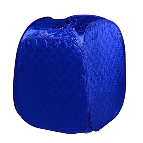 Sauna à Vapeur Portable Traitement de Pliage Personnel Perte de Poids Spa Famille intérieure + Chaise et télécommande (Couleur : Bleu)