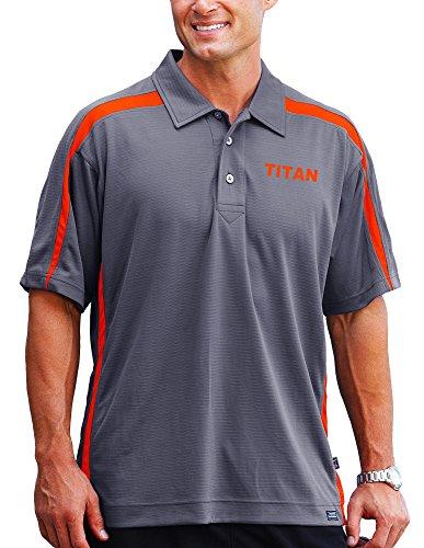 Pro Celebrity Polo Titan pour homme (3XL, Graphite et orange)