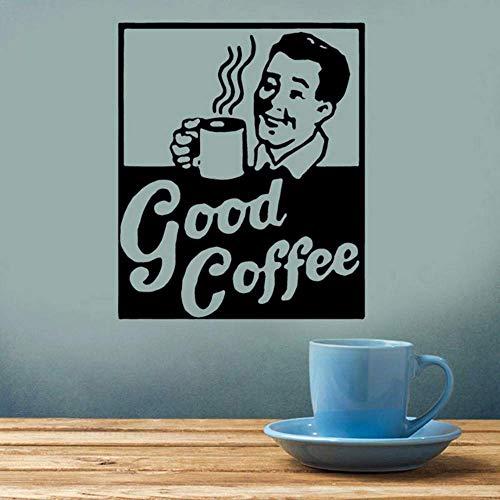 Retro Coffee Sign Decal, Keuken, Restaurant Decor, Espresso Cup, Vintage, Beker van Joe, Vinyl Sticker Zelfklevend Behang 57 * 69 cm