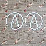 2X White 4'' Atheist Symbol Atheism Decal Vinyl Sticker Car Laptop Window Style c