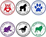 Choose from 60 Animal Designs! - This Book Belongs to from The Library of Personalized Self Inking Stamp Custom Teacher Student Children Gift Book Naming Customized Name Rubber Stamper Classroom Wood