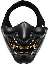 Máscara Mascarada Máscara de graduación WoSporT Bola de Halloween Risa Cos Devil Horror Mujer Adulto Mueca Media Cara Máscara táctica (Color: Negro, Tamaño: Talla única)