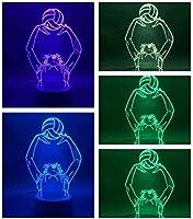 giyiohok 3DLedビジュアルランプキッズランプビットコイン7色モダンランプデコレーションランプキッズ向けベストギフトUSB電源-A14-A11
