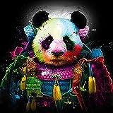 wanghan Colorful Kung fu Panda Adultos Puzzle 1000 Piece Wooden Jigsaw Interesantes Rompecabezas de Juguete Puzzle Adultos educativos descompresión-50x75cm