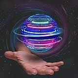 Papi Dada Mini dron con bola voladora, giratorio 360°, mando mágico, recargable por USB, luces RGB integradas, juguetes mágicos, utilizable en interiores y exteriores [2021 actualizado] (azul)