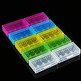 Tosuny 10X Caja de Batería para 18650 18350 batería Transparente Colores Estuche de Almacenamiento de Plástico