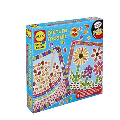 Alex Little Hands Picture Mosaic Kids Toddler Art and Craft Activity