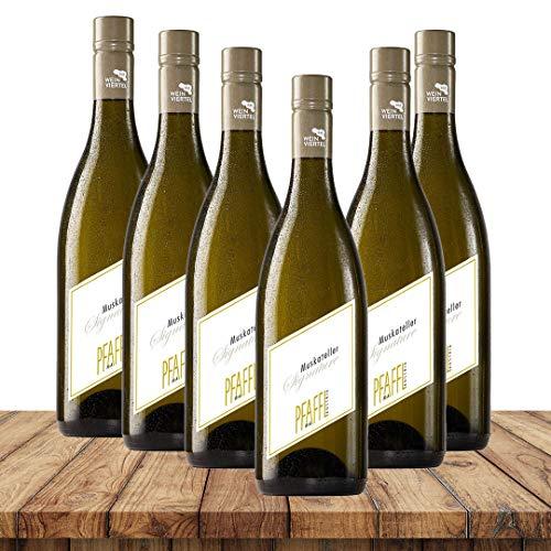 Pfaffl Muskateller Signature 2020 | Weinpaket Weißweine (6 x 0,75 Liter) | Weißweine aus Österreich | Vegan