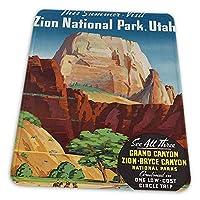 ゲーミングマウスパッド - 旅行夏グランドキャニオンノースリムブライスザイオン国立公園ユタ州 マウスパッド おしゃれ ゲームおよびオフィス用/防水/洗える/滑り止め/ファッショナブルで丈夫 25x30cm