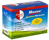 Swiss Point Of Care Mission strisce reattive | per la misurazione del colesterolo con il Mission misuratore (misuratore NON incluso in questo set)