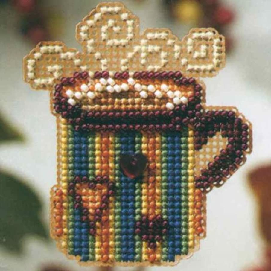 Hot Stuff Beaded Counted Cross Stitch Ornament Kit Mill Hill 2008 Autumn Harvest MH18-8201