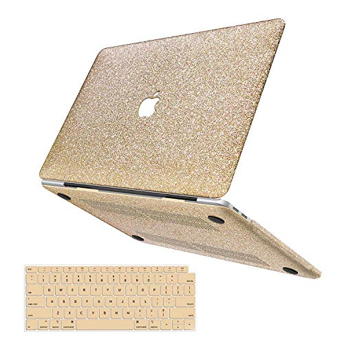 MacBook Air 13 Inch Case 2020 2019 2018 Release A2179 A1932, Anban Glitter Bling Smooth Protective Laptop Shell Slim Snap On Cover with Keyboard Cover for Mac Air 13 with Retina Display & Touch ID