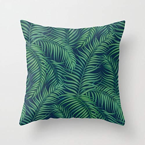 INS Tropical Leaves Throw Pillow Case Girl Tiger Leaves Fundas de cojín para el hogar Sofá Silla Fundas de A21 45x45cm