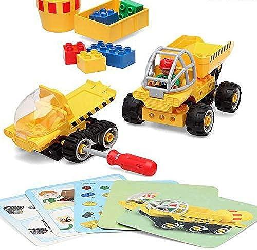 calidad garantizada Eurowebb Set de de de construcción camión persianas amarillo (38pcs) Juego de construcción Niños  primera vez respuesta