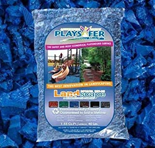 blue rubber mulch by the bag