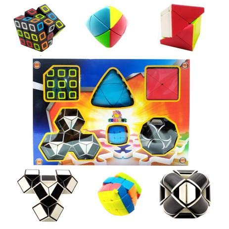 Jogos de Raciocínio Cubo Mágico Snake Cube kit com 6 desafios diferentes cubo para montar e imprimir cubos de encaixe cubo mágico blocos de montar gigante como montar um cubo mágico como montar um cubo mágico - para montar montar cubo mágico camadas