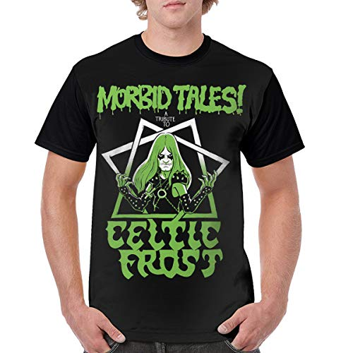 Celtic Frost T-Shirt Men Summer Casual Cotton Round Neck Short Sleeve Shirt Black