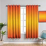 Xlcsomf Cortina para exteriores de 45 pulgadas de largo, diseño temático de verano, artístico moderno, uso diario, naranja, amarillo y amarillo