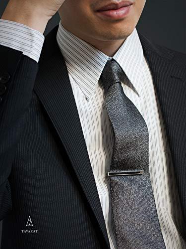 [タバラット]タイピンカフスセット日本製真鍮本革(ブラック)Kts-005-bk