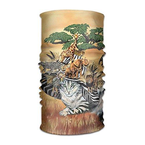 DearLord African Zebra Safari Headwear para hombres y mujeres Yoga Deportes Viaje Entrenamiento Vinchas anchas, Polaina de cuello, Bandana, Forro de casco, Pasamontañas, turbante de pelo, bufa