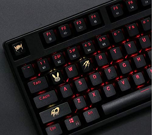 Mugen Custom DVA Overwatch Gaming Keycaps Set for Cherry MX Switches - Fits Most Mechanical Gaming Keyboards - with Keycap Puller