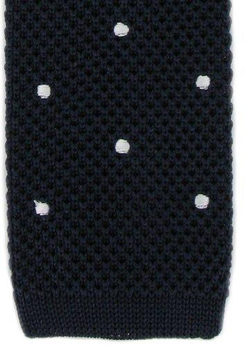 Michelsons of London Navy/White Spot conception cravate de