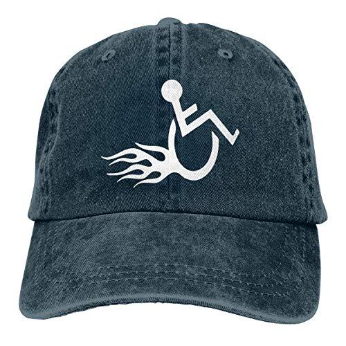 XCNGG Hombres \'s/Mujeres\' Silla de Ruedas Divertida Hot Wheels-1 Gorra de béisbol de Tela Vaquera Sombrero Ajustable