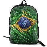 XCNGG Mochila de impresión de fotograma completo para adultos Mochila informal Mochila Mochila escolar NiYoung Travel Backpack Laptop Backpack Large Diaper Bag - Brazil Flag Psychedelic Backpack Schoo