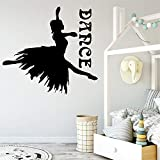 woyaofal Pretty Girl Dance PVC Wall Decals Home Decor for Living Room Bedroom Decor House Decoration...