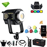 Godox VL150 150W LED Light Continuous Video Lights Lamp 5600K CRI 96 TCLI 95 Bowens Mount for Video Recording, Wedding, Outdoor Shooting, Portrait, Video Filming, Interview Lighting + BD-04 Barndoor