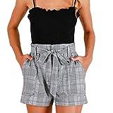 FORUU High Waisted Loose Shorts Womens 2020 New Cute Fashion Summer Stripe Pocket Pant Sexy Comfy Irregular Shorts Bermuda Shorts Soft Shorts School Daily Party Club Best