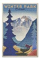 ウィンターパーク、コロラド州 - リトグラフ96412 (プレミアム500ピースジグソーパズル 大人用 13x19インチ 米国製 )