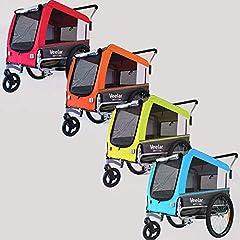 Veelar Huisdieren Grote Hond Tag & Buggy 2in1 Fietstrailer voor honden Jogger 80205-D03 (BLAUW)*