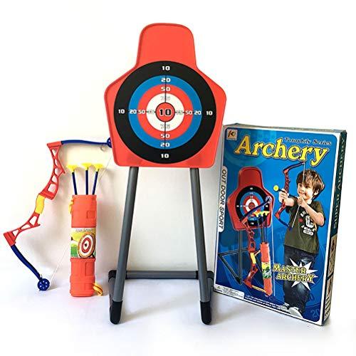 YRE 59cm Schießbogen und Pfeilset, Junge Athletik-Spielzeug, Outdoor-Eltern-Kind-Feldspielsimulation weiches Slingshot-Pfeilspielzeug mit Target