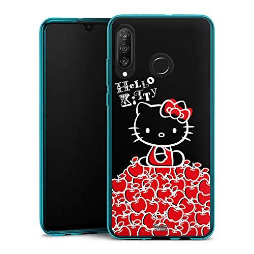 DeinDesign Silikon Hülle kompatibel mit Huawei P30 Lite Hülle Schutzhülle Hello Kitty Merchandise Fanartikel Black