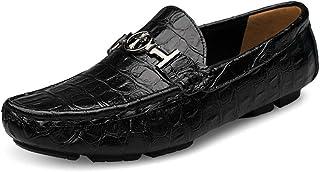 Hommes Croix Plat Mocassins Décontractés en Cuir Conduite Marche Mocassin Affaires Robe Classique Chaussures de Bateau