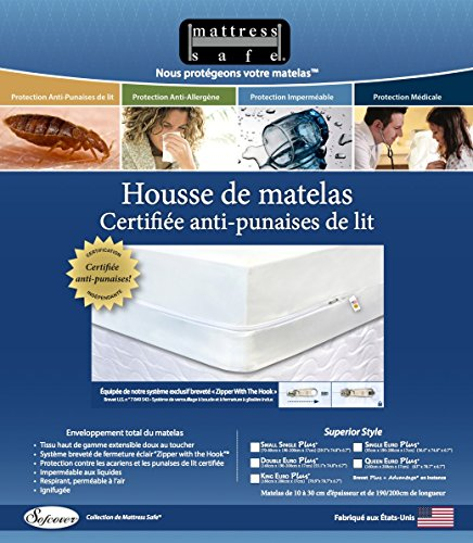 Anti punaise de lit housse de matelas Mattress Safe 90 x 190 x 17