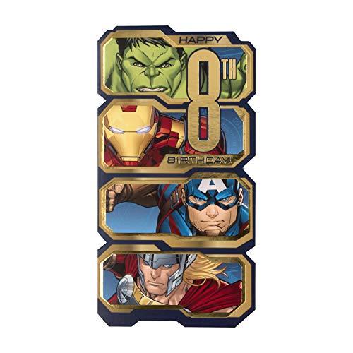 Hallmark Geburtstagskarte zum 8. Geburtstag, Motiv: Marvel Avengers