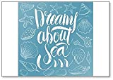 Dreams About Sea - Imán para nevera, diseño con texto en inglés
