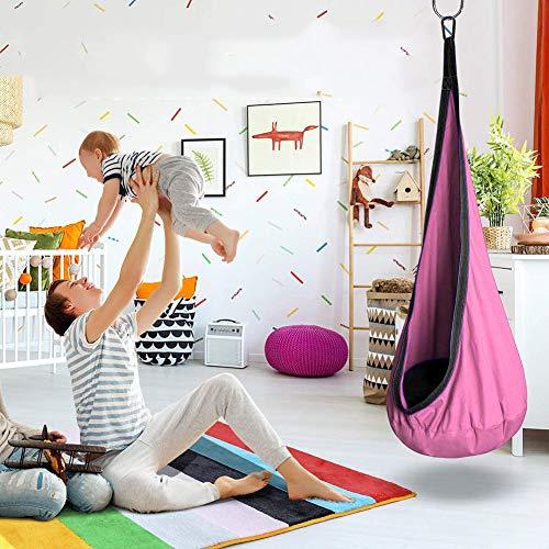 Ysimee Columpios Infantiles Interior, Silla Pod Swing, Hamaca para niños Swing de Terapia para Uso Divertido en Interiores y Exteriores, hasta 90 KG