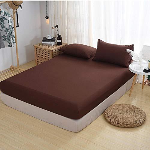 HPPSLT Protector de colchón - óptimo antiácarosFunda Protectora de una Sola Pieza para sábana Antideslizante-6_150x200cm