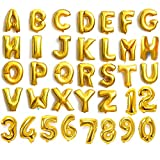 Palloncini a forma di lettere e numeri color oro e argento, da 40,6cm, lettere dalla A alla Z e numeri da 0a9,per comporre nomi, da festa di nozze, in lamina, Blue, numero 8